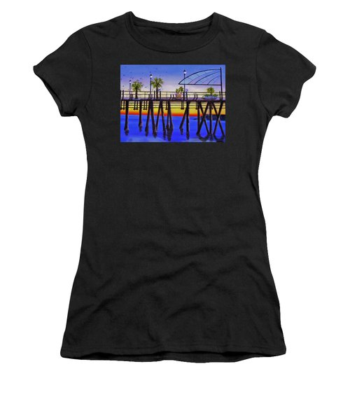 Redondo Beach Pier Women's T-Shirt (Athletic Fit)