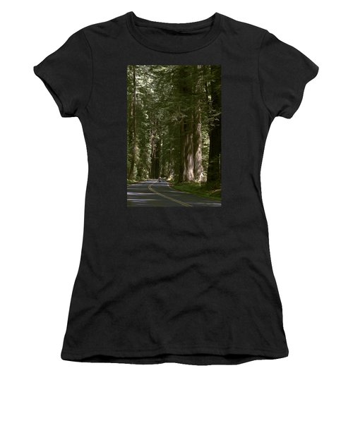 Redwood Highway Women's T-Shirt (Junior Cut) by Wes and Dotty Weber