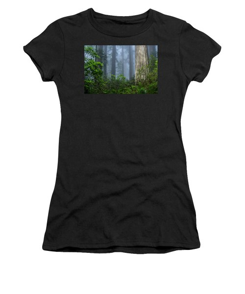 Redwoods In Blue Fog Women's T-Shirt (Athletic Fit)