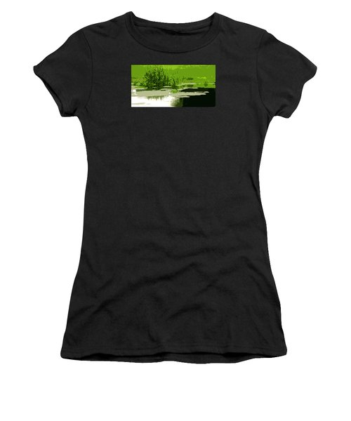 Reeds At The  Pond Women's T-Shirt (Athletic Fit)