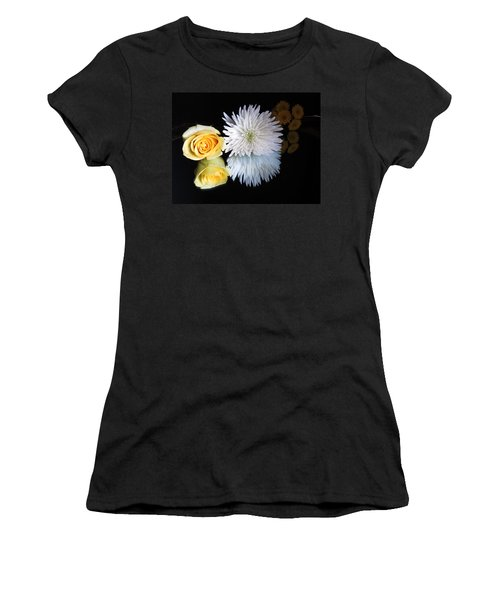 reflected Flowers Women's T-Shirt (Athletic Fit)