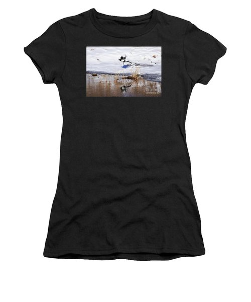Reflecting Magpie Women's T-Shirt (Athletic Fit)