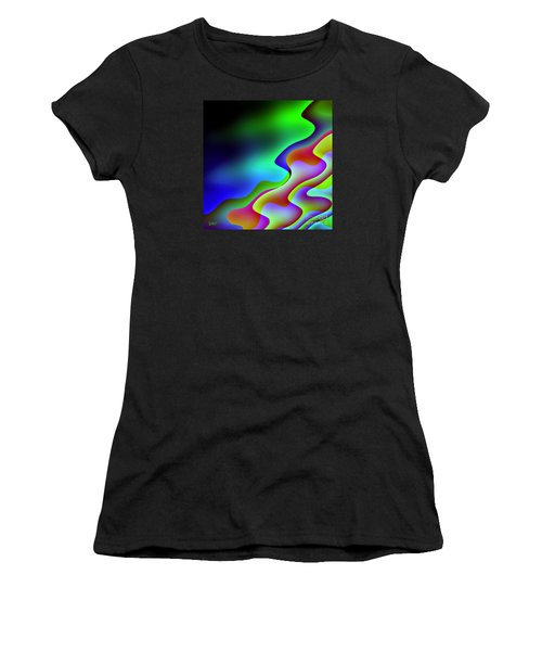 Women's T-Shirt (Junior Cut) featuring the digital art Reflection In The Water by Dragica  Micki Fortuna