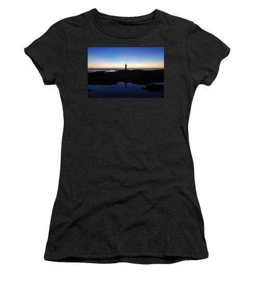 Reflection Of Bodie Light At Sunset Women's T-Shirt