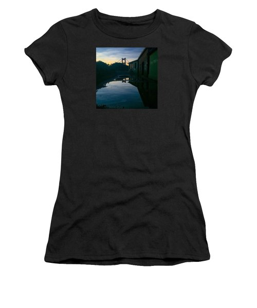 Reflecting On Past Wars Women's T-Shirt (Junior Cut) by Eugene Evon