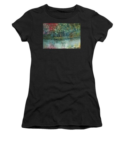 Reflections Along The Water Women's T-Shirt (Athletic Fit)