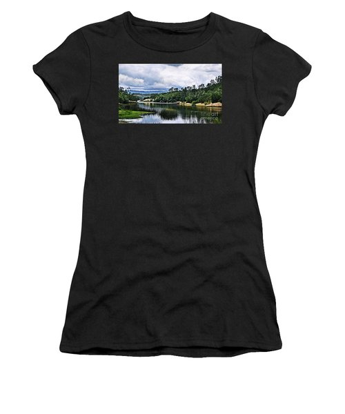 Reflections At Nicasio Reservoir  Women's T-Shirt (Athletic Fit)