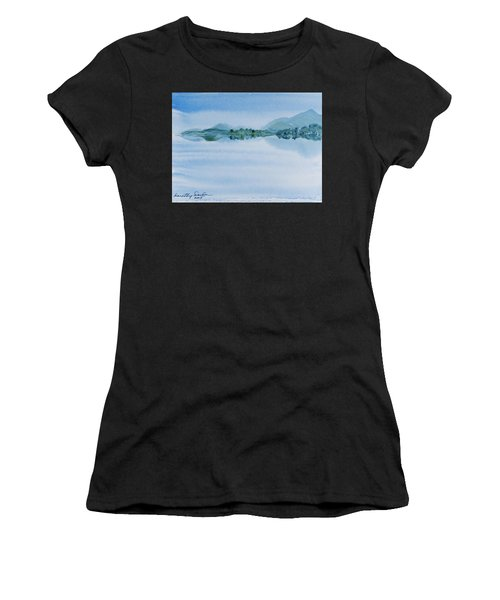 Reflection Of Mt Rugby In Bathurst Harbour Women's T-Shirt