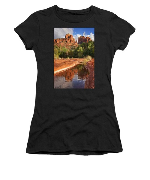 Reflections Of Cathedral Rock Women's T-Shirt