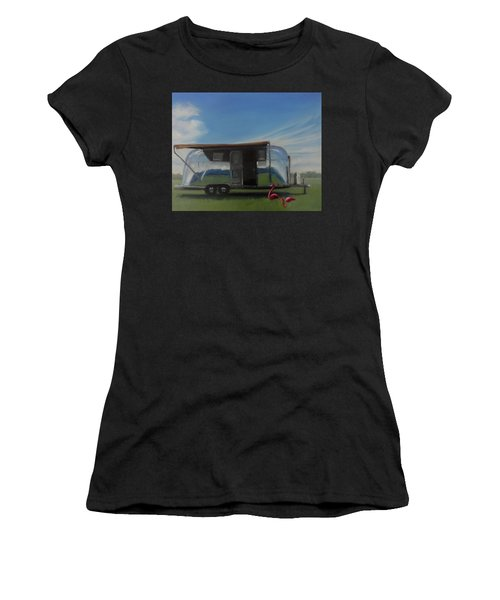 Reflections Of The Airstream Factory Women's T-Shirt (Athletic Fit)