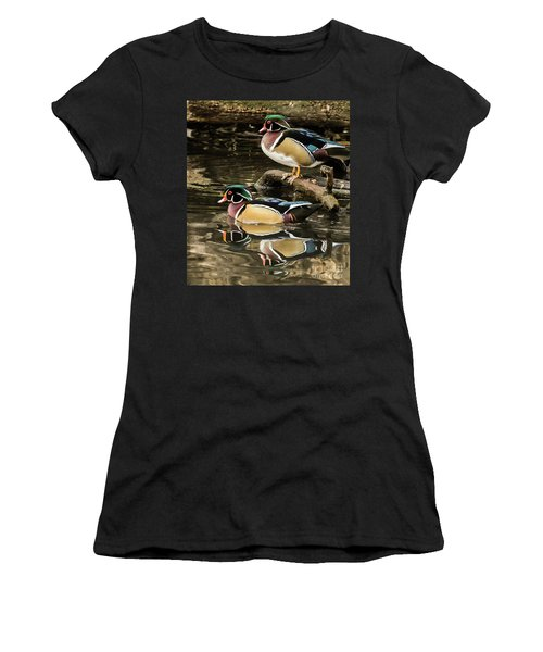 Reflections Of You And Me Wildlife Art By Kaylyn Franks Women's T-Shirt