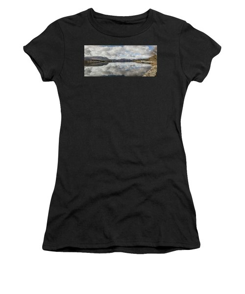 Women's T-Shirt (Athletic Fit) featuring the photograph Reflections On Ullswater by RKAB Works