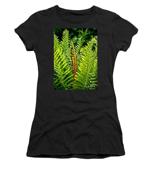 Refreshing Green Fern Wall Art Women's T-Shirt (Athletic Fit)