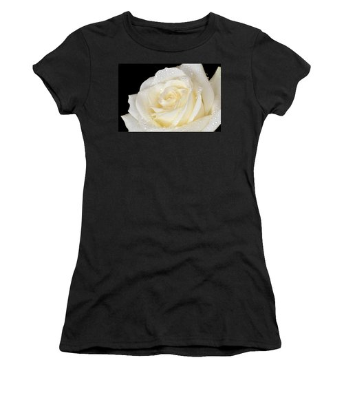 Refreshing Ivory Rose Women's T-Shirt (Junior Cut) by Terence Davis