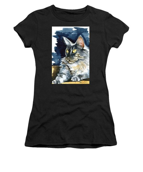 Regina - Maine Coon Painting Women's T-Shirt (Athletic Fit)