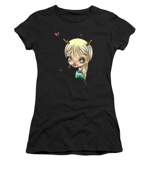 Reindeer Kisses Women's T-Shirt (Athletic Fit)