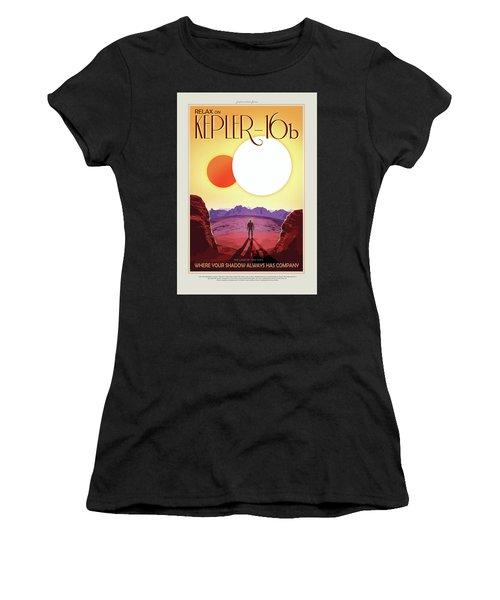 Relax On Kepler - 16b - Vintage Nasa Poster Women's T-Shirt