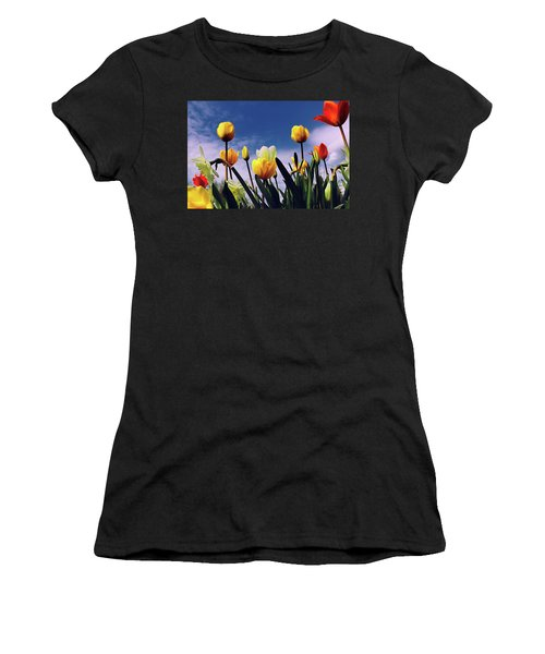 Relax With The Tulips Women's T-Shirt (Athletic Fit)