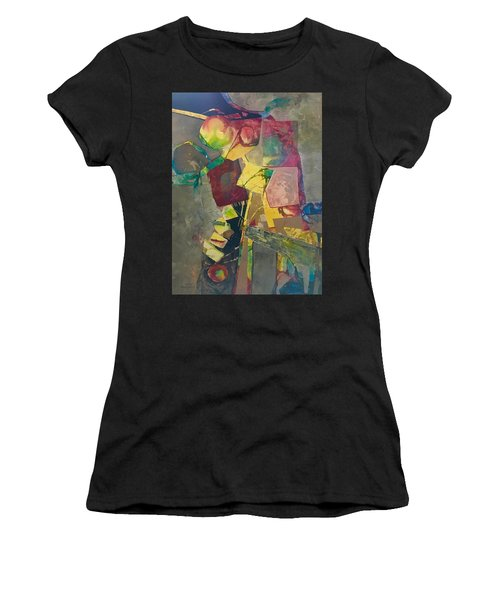 Relay The Force Pattern Women's T-Shirt (Athletic Fit)