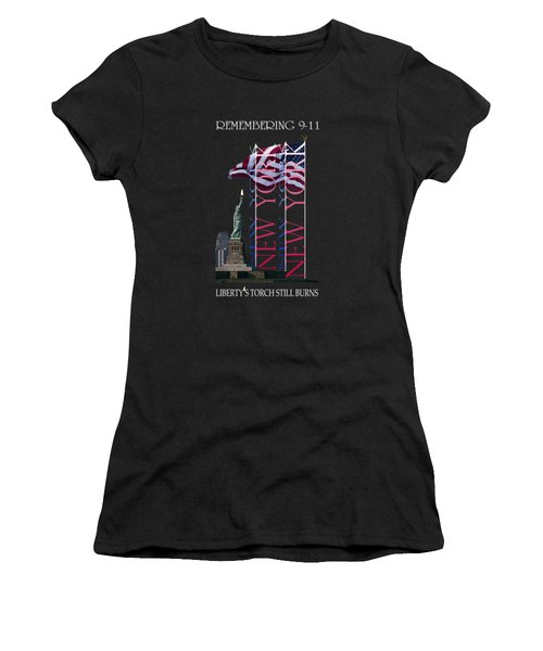 Remembering 9/11 Liberty's Flame Still Burns - T-shirt Women's T-Shirt (Athletic Fit)