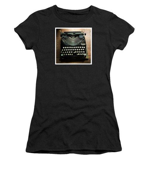 Remington Portable Old Used Typewriter Women's T-Shirt