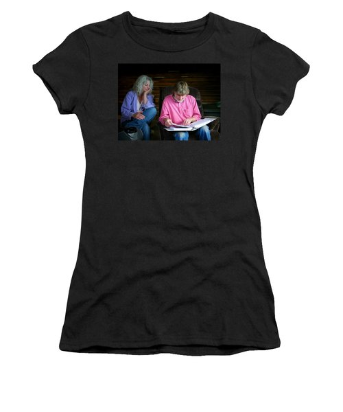 Women's T-Shirt (Junior Cut) featuring the photograph Reminiscing by Lenore Senior