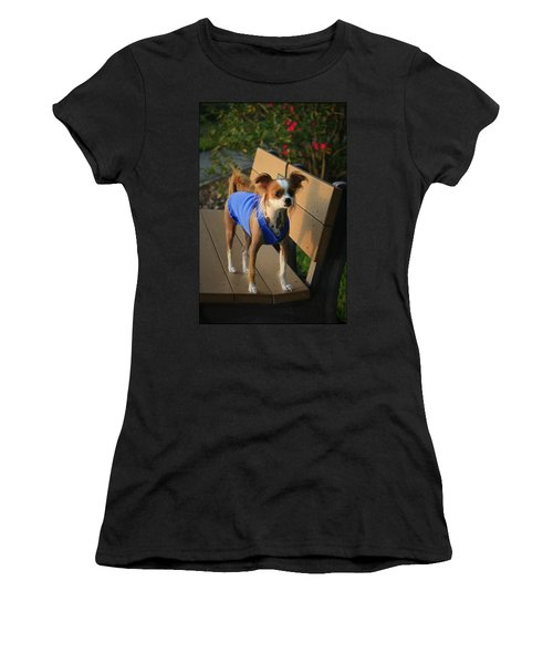 Ren The Chinese Crested Mix Women's T-Shirt (Athletic Fit)