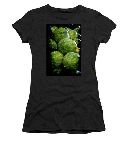 Renaissance Green Watermelon Women's T-Shirt (Athletic Fit)