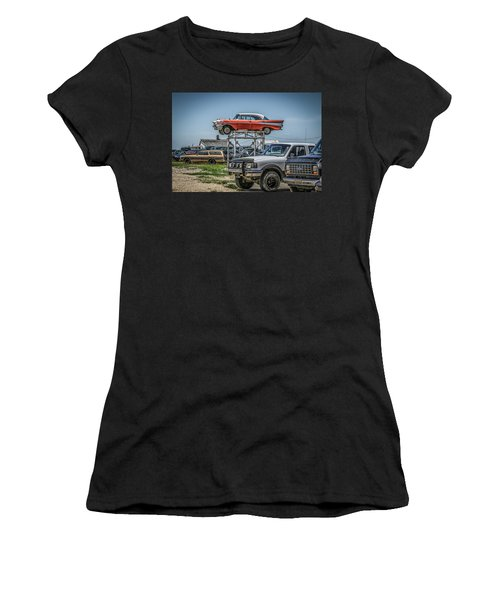 Reserved Parking Women's T-Shirt (Junior Cut) by Ray Congrove