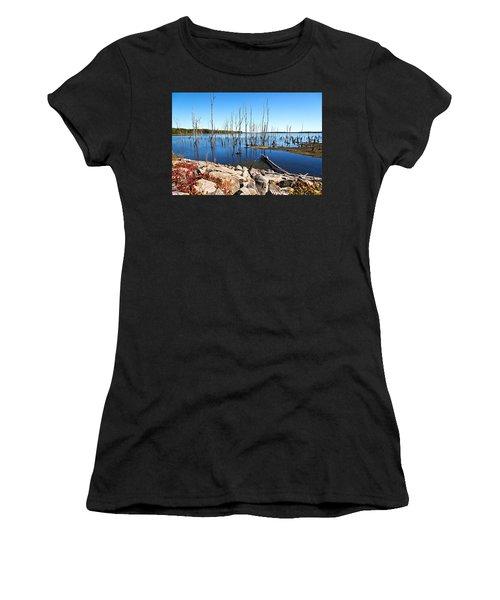 Women's T-Shirt featuring the photograph Reservoir by Angel Cher