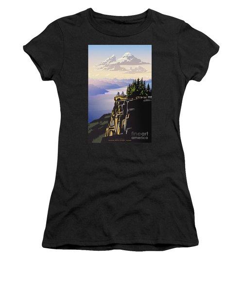 Retro Beautiful Bc Travel Poster Women's T-Shirt