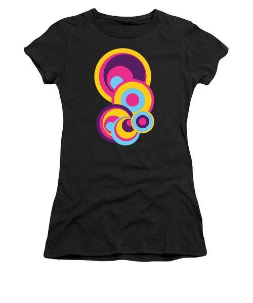 Retro Circles Groovy Colors Women's T-Shirt