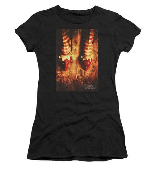 Retro Elf Toes Women's T-Shirt (Athletic Fit)