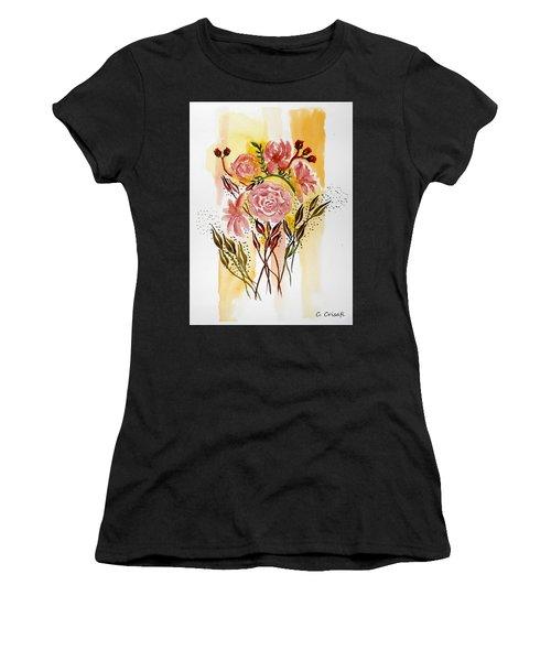 Retro Florals Women's T-Shirt (Athletic Fit)