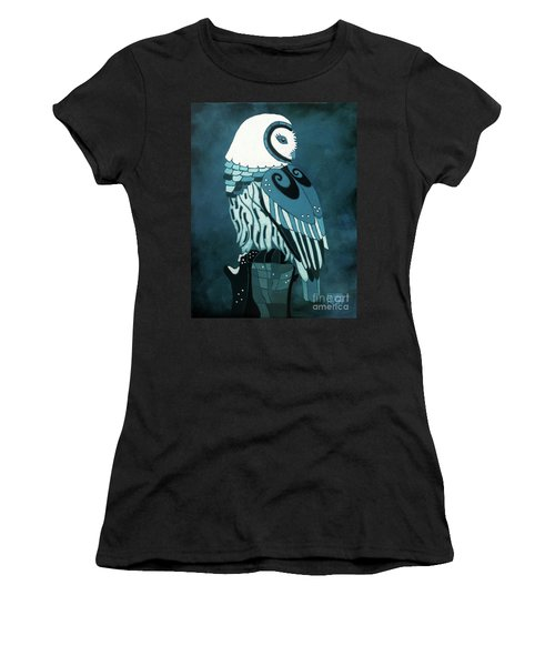 Retrospect In The Moonlight Owl Women's T-Shirt (Athletic Fit)