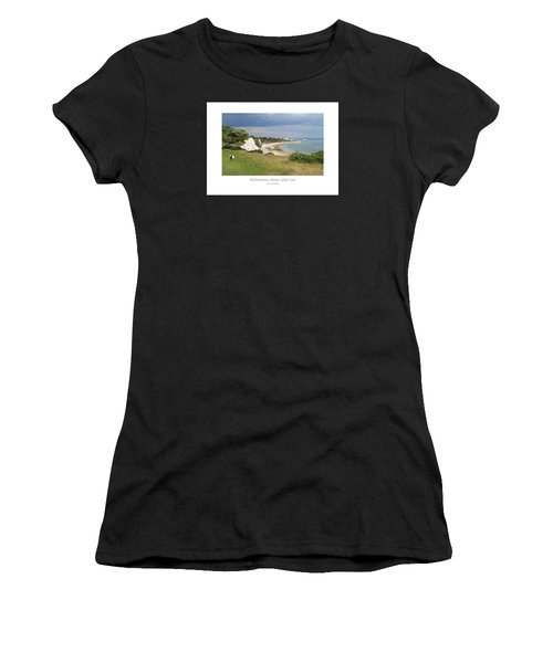Women's T-Shirt featuring the digital art Returning From Cow Gap by Julian Perry