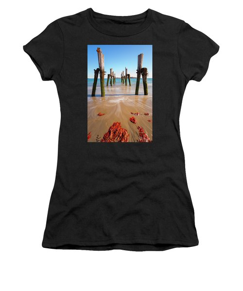 Women's T-Shirt featuring the photograph Returning To The Ocean by Brian Hale