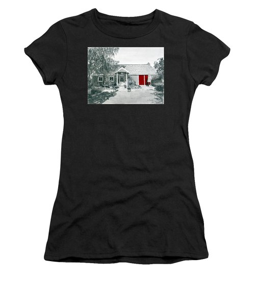Retzlaff Winery With Red Door No. 2 Women's T-Shirt (Athletic Fit)