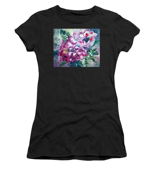 Rhododendron And Lily Of The Valley Women's T-Shirt