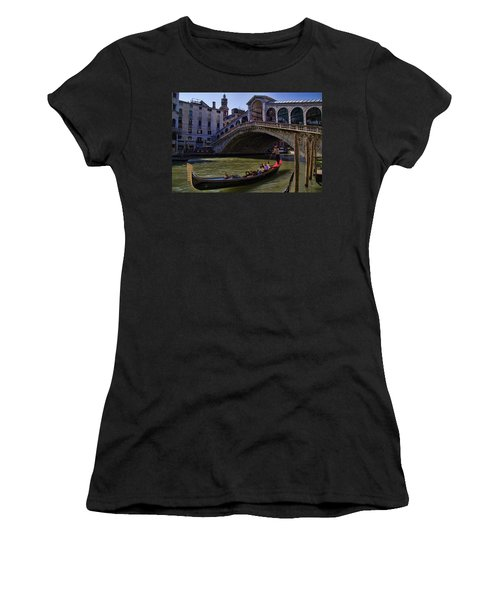 Rialto Bridge In Venice Italy Women's T-Shirt (Athletic Fit)