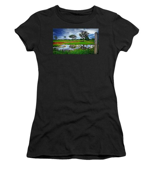 Rice Paddy View Women's T-Shirt (Athletic Fit)