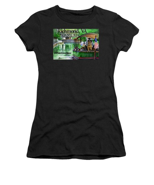 Richmond Va Canal Boat Women's T-Shirt (Athletic Fit)