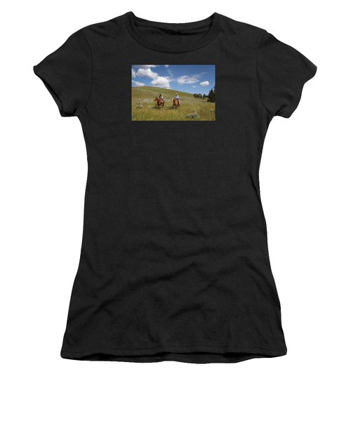 Riding Fences Women's T-Shirt (Junior Cut) by Diane Bohna