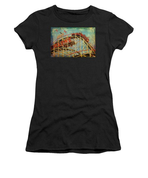 Riding The Cyclone Women's T-Shirt (Athletic Fit)