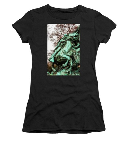 Women's T-Shirt (Junior Cut) featuring the photograph Riding Tight by Christopher Holmes