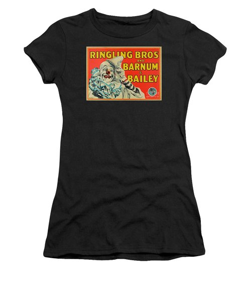 Ringling Brothers Clown Poster Women's T-Shirt