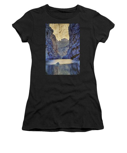 Rio Grand, Santa Elena Canyon Texas 2 Women's T-Shirt (Athletic Fit)