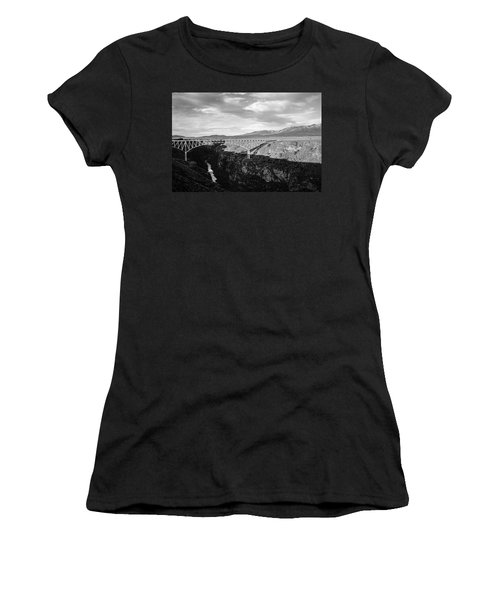 Women's T-Shirt (Junior Cut) featuring the photograph Rio Grande Gorge Birdge by Marilyn Hunt