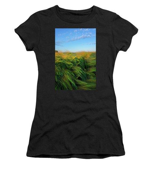 Ripening Barley Women's T-Shirt (Athletic Fit)