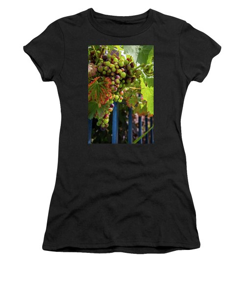 Women's T-Shirt (Athletic Fit) featuring the photograph Ripening Grapes by Geoff Smith